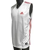 ADIDAS PRO TEAM JERSEY [P53006] 籃球 背心 運動 休閒 舒適 愛迪達 白紅