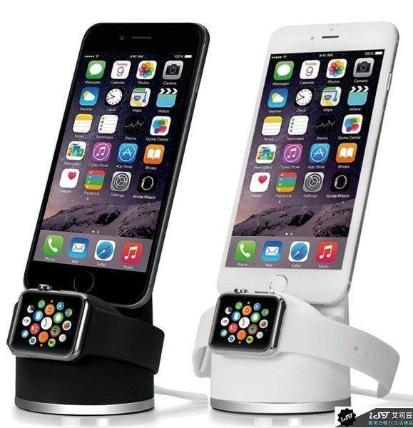 日本 ZEPIRION Apple Watch 1/2/3 LTE iPhone 2合1 充電座 表面矽膠漆塗層 現貨供應中