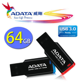 威剛 ADATA UV140 64G 64GB USB3.0 書籤碟 藍色
