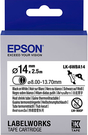 LK-6WBA14 EPSON 熱縮套管系列白底黑字標籤帶(內徑14mm) C53S656903