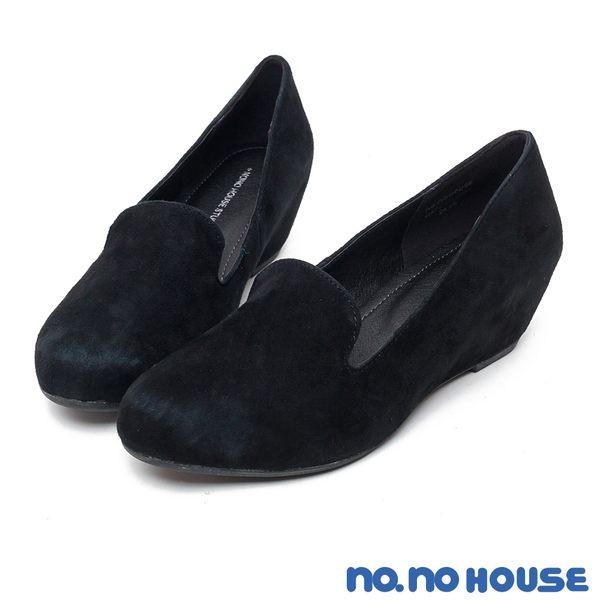 內增高鞋 人氣NO.1原色真皮內增高鞋(黑)*nono house【18-8502bk】【現貨】