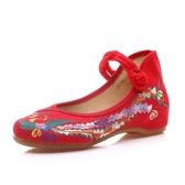 彩鳳 秀禾婚鞋繡花布鞋女單鞋拼色女鞋平底媽媽鞋牛津軟底舞蹈鞋 快速出貨