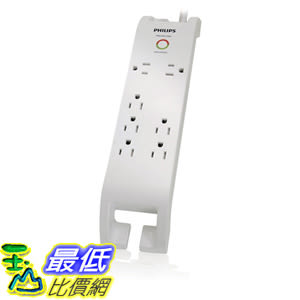 [106美國直購] 飛利浦 Philips SPP3070F/17 Home Electronics 7 Outlet Surge Protector with Built - In Cord Management