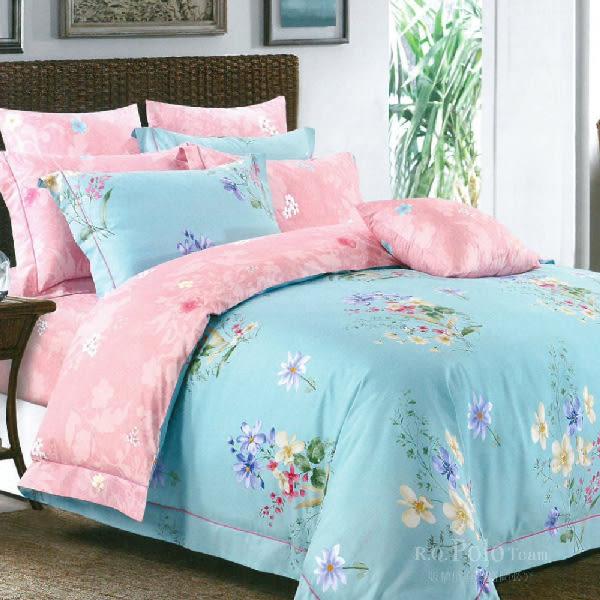 【R.Q.POLO】輕葉郁景 精梳棉-兩用被床包四件組(雙人標準5X6.2尺)