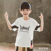 兒童夏季寬鬆薄款洋氣短袖t恤男童中大童嘻哈半袖小學生街舞上衣 FX5291 【夢幻家居】
