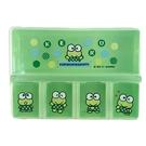 小禮堂 大眼蛙 塑膠方形五格藥盒 隨身藥盒 藥物收納盒 分裝盒 小物盒 (綠 點點) 4713791-87199