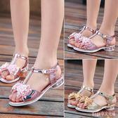 女童魚嘴平底涼鞋夏季新款童鞋韓版中童學生公主鞋小高跟演出鞋 DR17013【Rose中大尺碼】