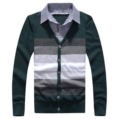 針織外套-經典復古漸層設計長袖男針織衫3色73ik33【時尚巴黎】