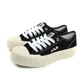 FILA 休閒運動鞋 女鞋 黑色 帆布 厚底 4-C910T-011 no052