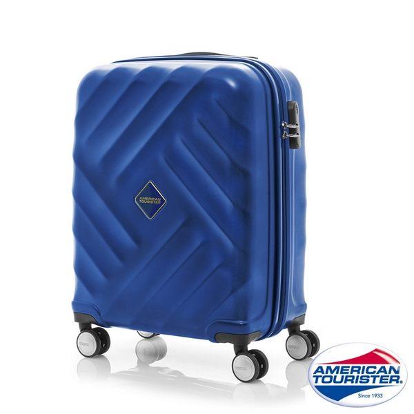 AT美國旅行者 20吋Gravity重力系列防刮飛機輪TSA登機箱(藍)