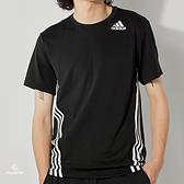 Adidas AERO 3S TEE 男 黑 運動 休閒 短袖 GM0655