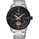SEIKO精工 CS 城市系列大日期視窗手錶-黑x銀/40mm 6N76-00H0K(SUR285P1)