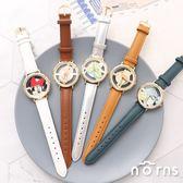 【日貨Sunflame手錶WD-B13簍空系列】Norns J-AXIS迪士尼  日本復古皮質腕錶 小熊維尼米奇米妮