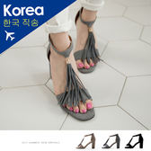 涼鞋-流蘇後拉鍊高跟涼鞋-FM時尚美鞋-韓國精選.Ocean