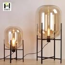 北歐現代透明玻璃客廳創意個性冬瓜落地酒店客房床頭臥室裝飾臺燈(定金鏈接,下標前洽談)
