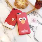 88柑仔店~韓國卡通芝麻街情侶iphone6s手機殼蘋果6plus磨砂7代保護套軟殼