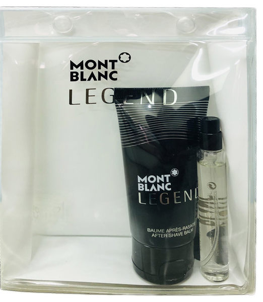 Mont Blanc Legend 萬寶龍 傳奇經典 旅行組 (淡香水7.5ML+鬍後乳50ML)【七三七香水精品坊】