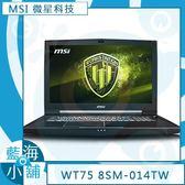 MSI 微星 WT75 8SM-014TW 17吋工作站筆記型電腦(Xeon E-2176G∥P5200-16G獨)