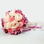 結婚手捧花婚慶韓式新娘仿真手捧花中式伴娘歐式森系用品婚禮花束 春生雜貨