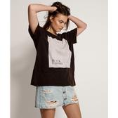 ONETEASPOON WW BLACK TEE SHIRT BOYFRIEND TEE T恤-黑(女)