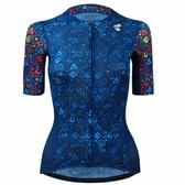 【亞特力士ATLAS】 女短袖車衣 JC-315-BU (迷彩緹花車衣-藍)