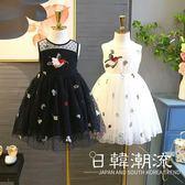 洋裝/裙子 洋氣女童連身裙2019新款夏裝兒童裝甜美小鳥公主裙女孩夏季裙4235