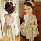 女童年新款韓版童裝夏中小童小碎花棉布洋裝露背兒童裙子潮 夏季新品