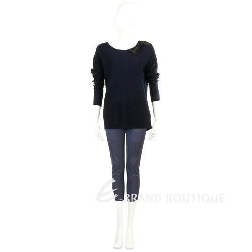 SCERVINO 藍/白色點點七分褲 0620802-23