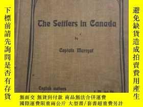 二手書博民逛書店SETTLERS罕見IN CANADAY8575 外文 出版1901