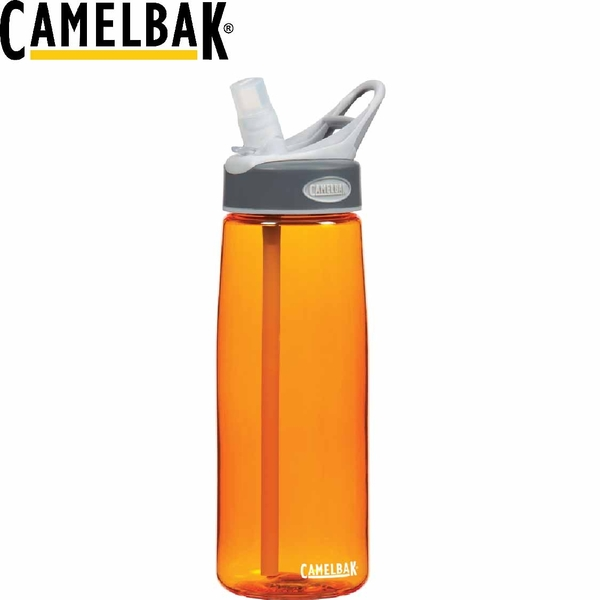【CamelBak 美國 750ml吸管運動水瓶 橘】 53229/運動水壺/水壺/耐撞擊/抗菌/提把/登山/露營★滿額送