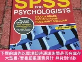 二手書博民逛書店Spss罕見for PsychologistsY310981 Nicola D Brace Palgrave
