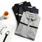 2018新款夏季有翻領男士短袖t恤個性港風青年潮流修身韓版polo衫『潮流世家』