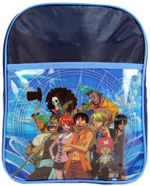 【卡漫城】 航海王 後背包 藍色小 ㊣版 A4可 書包 海賊王 魯夫 香吉士 娜美 羅賓 弗朗基 喬巴