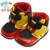布布童鞋 Disney迪士尼米奇黑黃色透氣運動短靴(15~19公分) [ MLM610D ] 黑色款