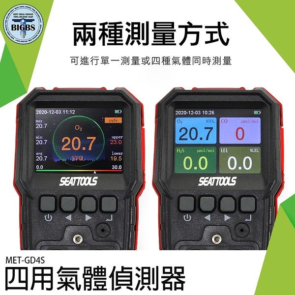 四用氣體檢測儀 氣體偵測器 2021最新版 CE/FCC/歐盟 防爆認證 大螢幕監測 GD4S 氣體檢測