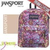 JANSPORT後背包包大容量JS-43501-0UE繽紛碎花