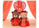 情侶婚紗熊泰迪熊公仔毛絨玩具車頭婚慶新婚壓床娃娃結婚禮物一對   初見居家