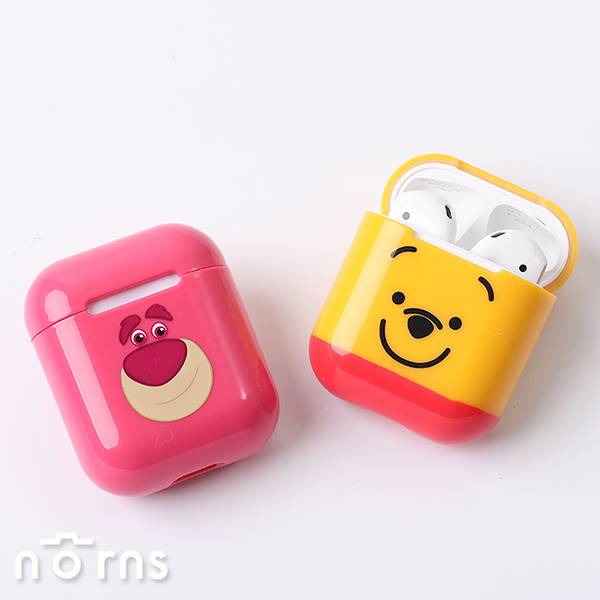 【CAMINO AirPods硬式保護套】Norns 迪士尼正版 iPHONE藍芽耳機充電套 維尼熊抱哥三眼怪史迪奇唐老鴨