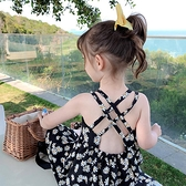2021童裝夏季新款裙子女童洋裝寶寶雛菊碎花吊帶公主裙6750 幸福第一站