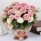 仿真花玫瑰花藝套裝花卉盆栽含花瓶假花裝飾絹花客廳餐桌擺件花藝 造物空間
