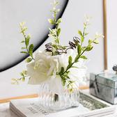 室內花客廳餐桌茶幾絹花假花套裝整體花藝家飾擺件多款【限時特惠九折起下殺】