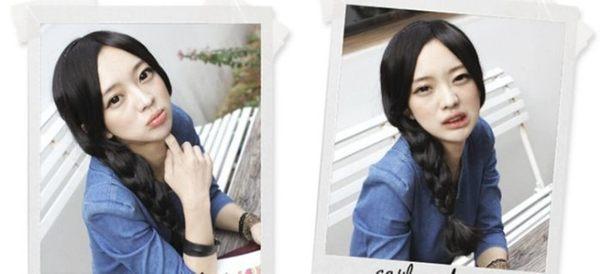 ★草魚妹★W39假髮片中分髮片加長二邊也可側撥流海假瀏海假髮片,售價158元