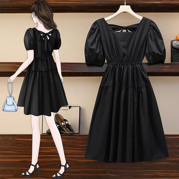 L-4XL胖妹妹大碼洋裝連身裙~大碼女裝胖mm時尚韓版中長款連身裙BF11A愛尚布衣