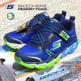 [ SKECHERS ] 男童 氣墊鞋 運動鞋 97727LNVBL,蝴蝶魚戶外