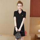 大碼休閒洋裝女春夏2021新款韓版寬鬆顯瘦純棉短袖T恤裙中 快速出貨