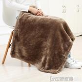 加厚小毛毯珊瑚絨毯秋冬季辦公室午睡毯單人蓋毯午休毯膝蓋毯小毯  印象家品