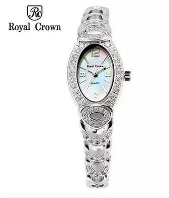 義大利Royal Crown 羅亞克朗- RC璀璨奢華鑽石 滿鑽鋯石腕錶 RC女錶 情侶錶對錶手鍊錶