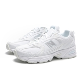 NEW BALANCE 休閒鞋 NB 530 全白 皮革 復古 運動 女 (布魯克林) MR530ELB