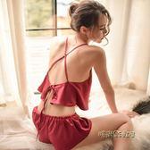 情趣內衣性感誘惑SM用品透視裝小胸三點式血滴子激情制服睡衣套裝「時尚彩虹屋」