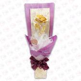 春節 伴手禮~ 黃金箔 玫瑰花 ~ 2種顏色包裝 ~結婚 生日 禮物~011618